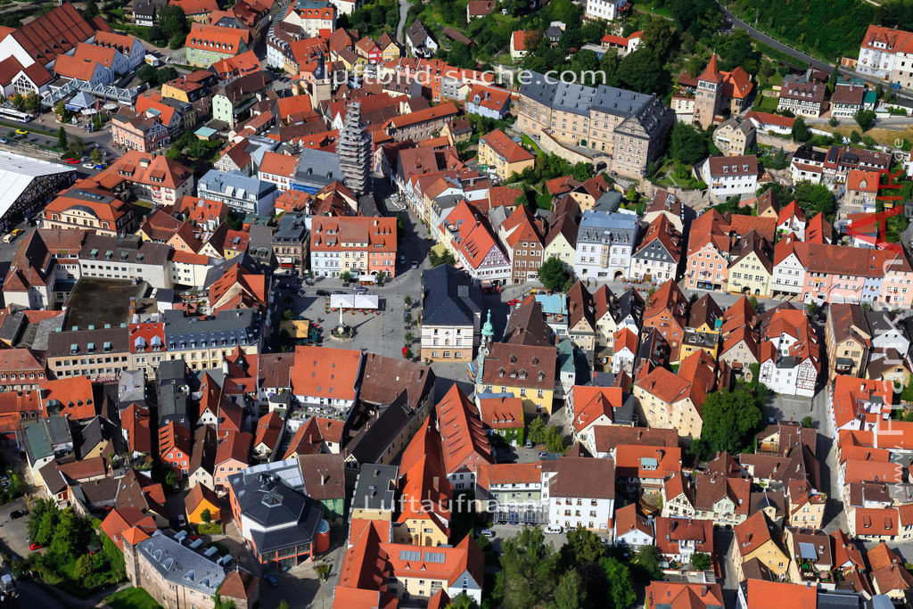 obere-stadt-kulmbach-2009-13   Luftbild von Obere-stadt Kulmbach - Luftaufnahme wurde 2009 von https://frankenair.de mittels Flugzeug (keine Drohne) erstellt - die Geschenkidee