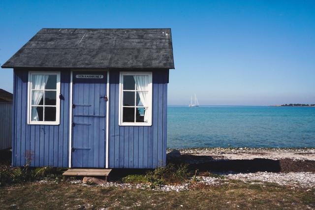 Hygge | Badehäuschen am Vesterstand auf der Insel Aeroe in Dänemark