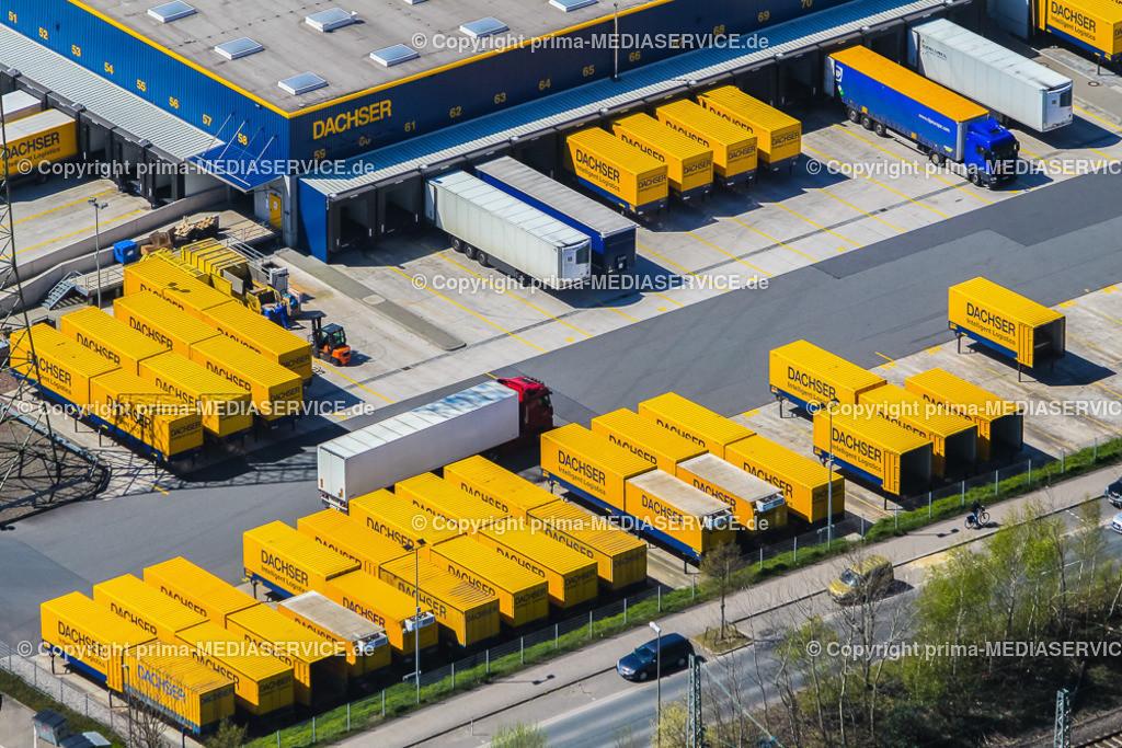 IMGL2004 | Luftbild DACHSER GmbH & Co. KG Frachtspeditionsdienst 21.04.2015 Niederlassung in Dortmund (Nordrhein-Westfalen, Deutschland).  Foto: Michael Printz / PHOTOZEPPELIN.COM