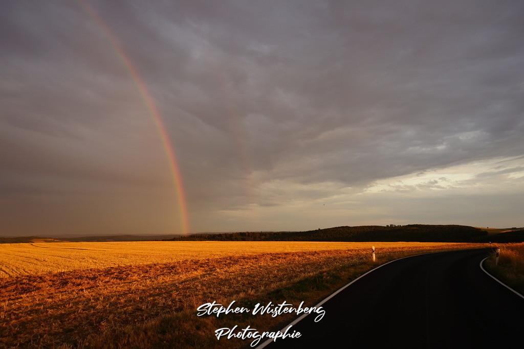 Rainbow@Sunset | Regenbogen im Sonnenuntergang Aufgenommen beim Kreuzhof