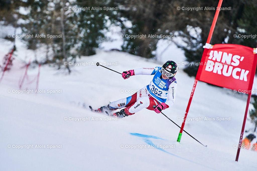 ALS5457_WWMG_GS-II_C   (C) FotoLois.com, Alois Spandl, WinterWorldMastersGames 2020 Innsbruck, Giant Slalom-II Gruppe C Damen, Patscherkofel Olympiaabfahrt, Mi 15. Jänner 2020.