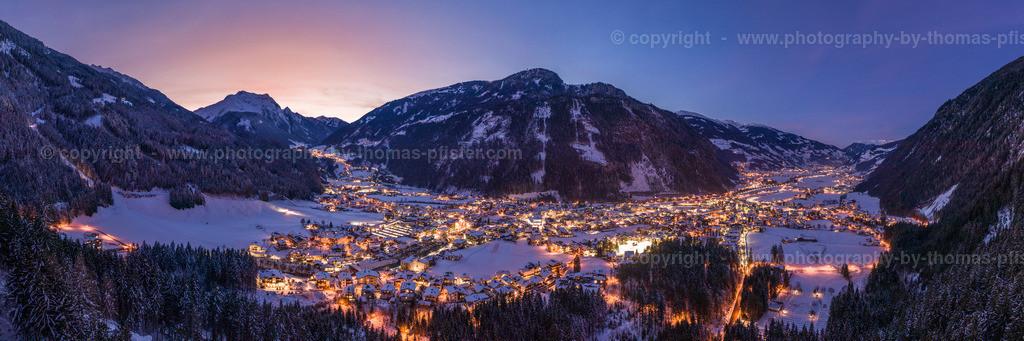 Mayrhofen Blaue Stunde Winter-2