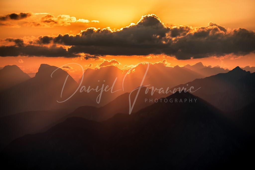 Sonnenuntergang | Sonnenuntergang über dem Inntal mit Blick zur hohen Munde