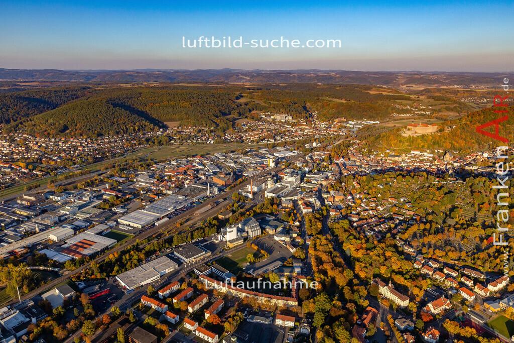 kulmbach-18-2784   aktuelles Luftbild von  Kulmbach - Luftaufnahme wurde 2018 von https://frankenair.de mittels Flugzeug (keine Drohne) erstellt.