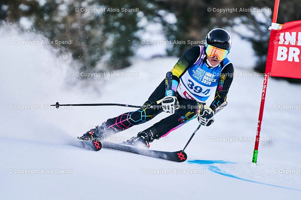 ALS5645_WWMG_GS-II_C | (C) FotoLois.com, Alois Spandl, WinterWorldMastersGames 2020 Innsbruck, Giant Slalom-II Gruppe C Damen, Patscherkofel Olympiaabfahrt, Mi 15. Jänner 2020.