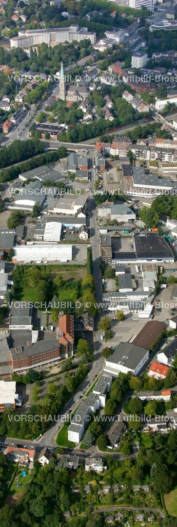 ES10094229a | Schuermannstrasse, Luftbild,  Essen, Ruhrgebiet, Nordrhein-Westfalen, Germany, Europa, Foto: hans@blossey.eu, 05.09.2010