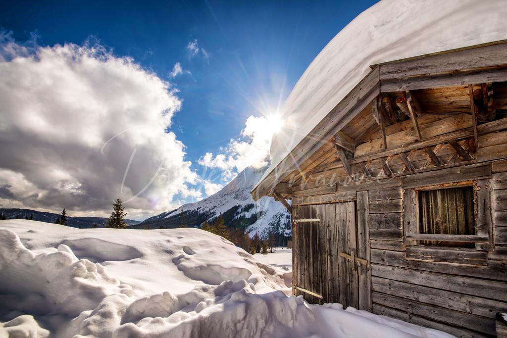 Hämmermoosalm | Die Hämmermoosalm im winterlichen Gaistal