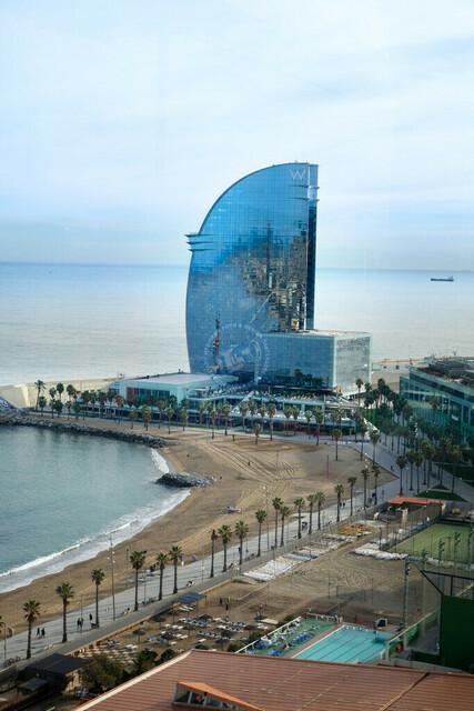 Hotel W Strand und Promenade | ESP, Spanien, Barcelona, 17.12.2018, Hotel W Strand und Promenade [2018 Jahr Christoph Hermann]