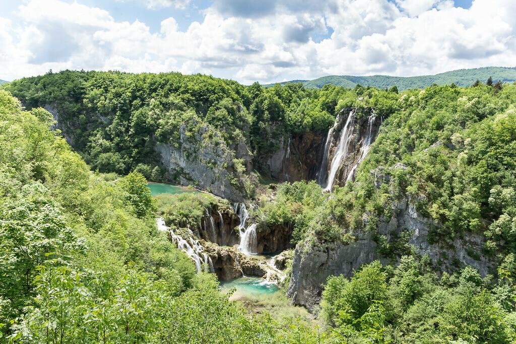 Großer Wasserfall Plitvicer Seen