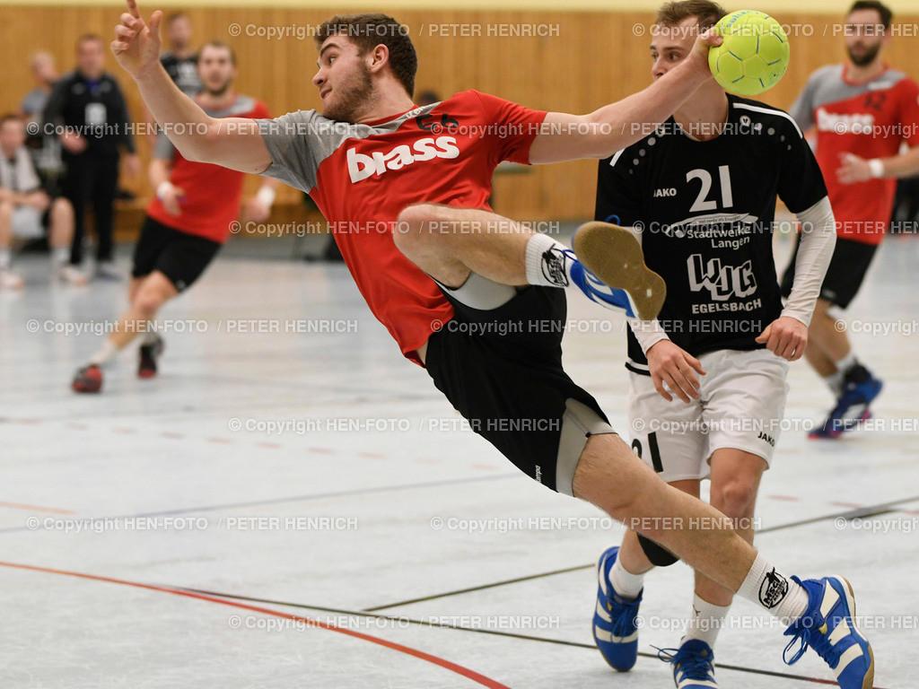 Handball Männer Landesliga MSG Rossdorf Reinheim - SG Egelsbach copyright HEN-FOTO   16.2.2020 Handball Männer Landesliga MSG Rossdorf Reinheim - SG Egelsbach (25:26) 56 Luk Schäfer (Ro) 21 Torben Zecher (E) copyright + Foto: Peter Henrich (HEN-FOTO)