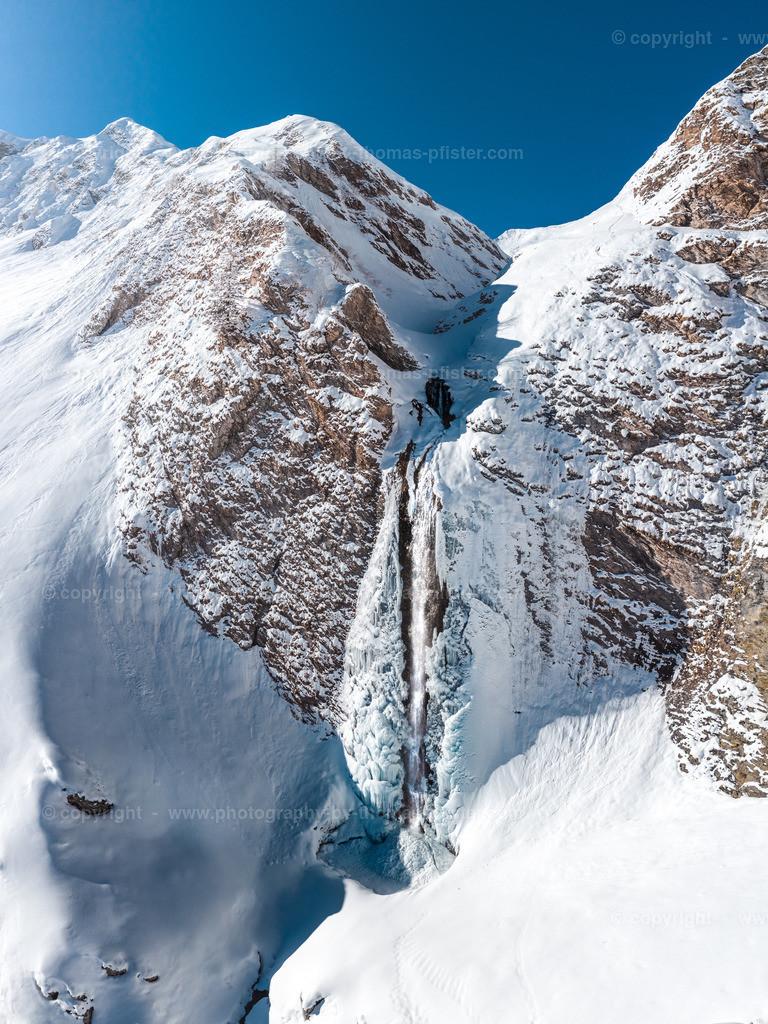 Schleierwasserfall Weitental Tux Winter-1