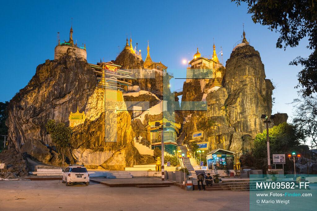 MW09582-FF | Myanmar | Loikaw | Reportage: Loikaw im Kayah State | Von der Taung-Kwe-Pagode (auch Thiri Mingalar genannt) hat man einen schönen Ausblick auf Loikaw und Umgebung. Das Heiligtum ist das Wahrzeichen der Stadt.  ** Feindaten bitte anfragen bei Mario Weigt Photography, info@asia-stories.com **