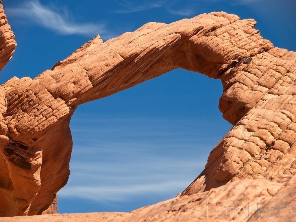 Sandstein Bogen   Sandsteinformation im Valley of Fire State Park, Nevada, USA