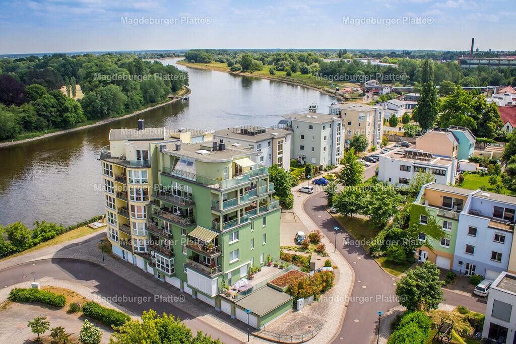 Luftbilder Magdeburg Buckau Häuser Fähre-2879