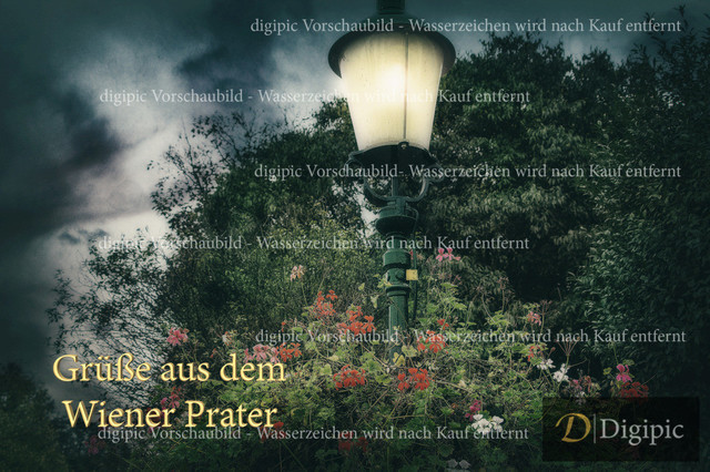 Grüße aus dem Wiener Prater 1 - Vorschaubild | Laterne im Wiener Prater
