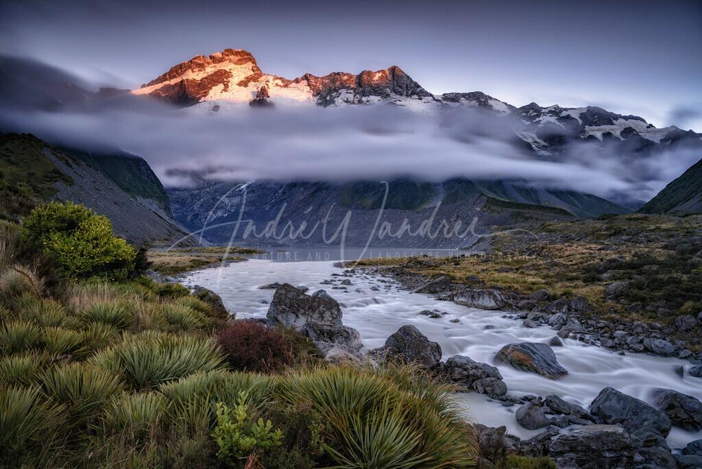 Mount Cook vor Sonnenaufgang