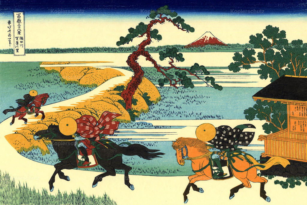 The-fields-of-Sekiya-by-the-Sumida-river-1831 Katsushika Hokusai- Large Format