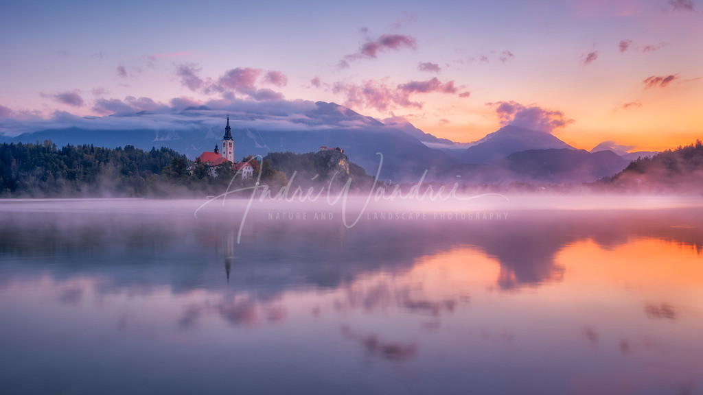 Morgendämmerung am Bledersee (16-9 Version)