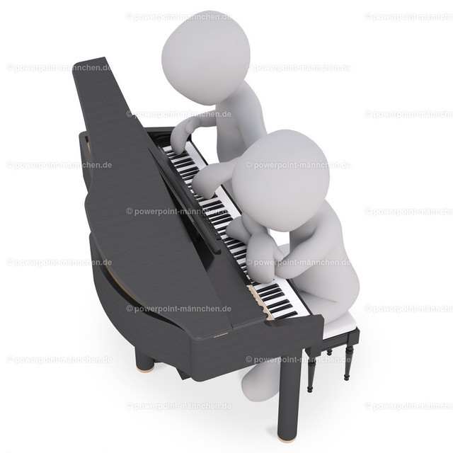 piano players on a concert