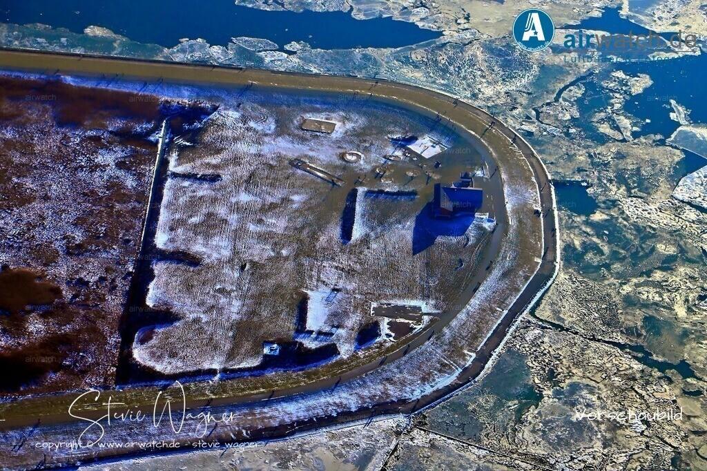 Winter Luftbilder, Nordsee, Nordfriesland, Husumer Bucht, Dockkoog   Winter Luftbilder, Nordsee, Nordfriesland, Husumer Bucht, Dockkoog