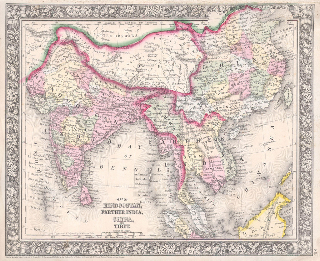 1864_Mitchell_Map_of_India__Tibet__China_and_Southeast_Asia