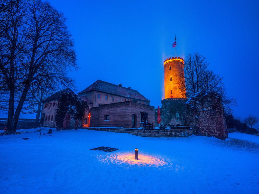 Sparrenburg nach dem Schneesturm | Sparrenburg nach dem Schneesturm am 7. Februar 2021.
