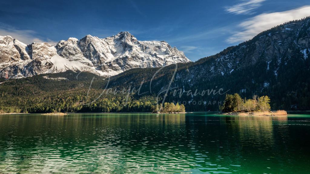 Eibsee | Frühling am Eibsee mit tief verschneiter Zugspitze