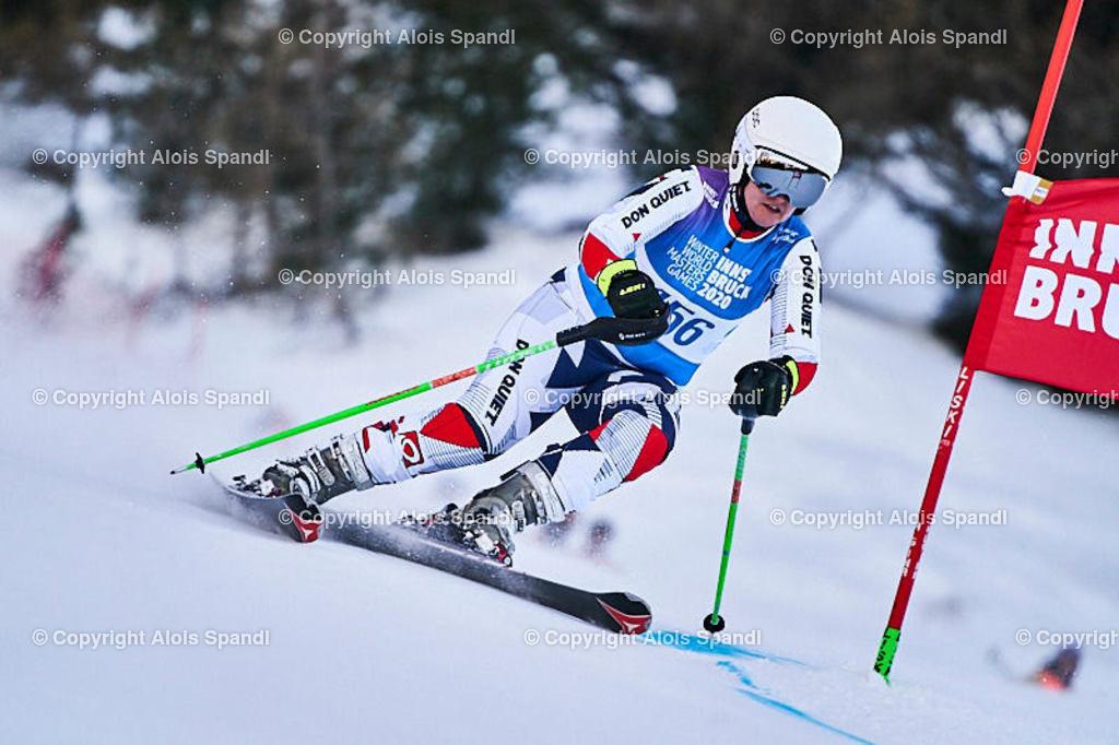 ALS5962_WWMG_GS-II_C | (C) FotoLois.com, Alois Spandl, WinterWorldMastersGames 2020 Innsbruck, Giant Slalom-II Gruppe C Damen, Patscherkofel Olympiaabfahrt, Mi 15. Jänner 2020.