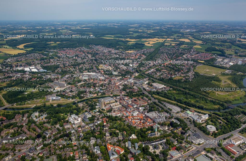 Luenen15072402 | Blick auf den Stadtkern von Lünen mit dem Umbau des Hertie-Hauses, Lünen, Ruhrgebiet, Nordrhein-Westfalen, Deutschland