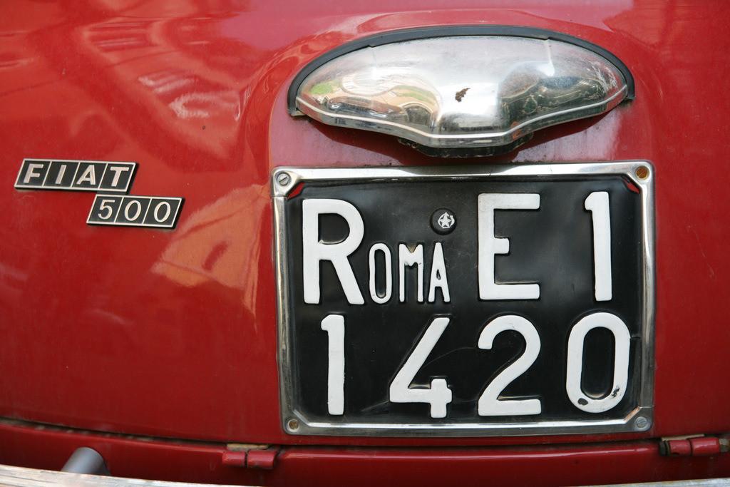 Fiat 500   Italien, Rom alter Fiat 500