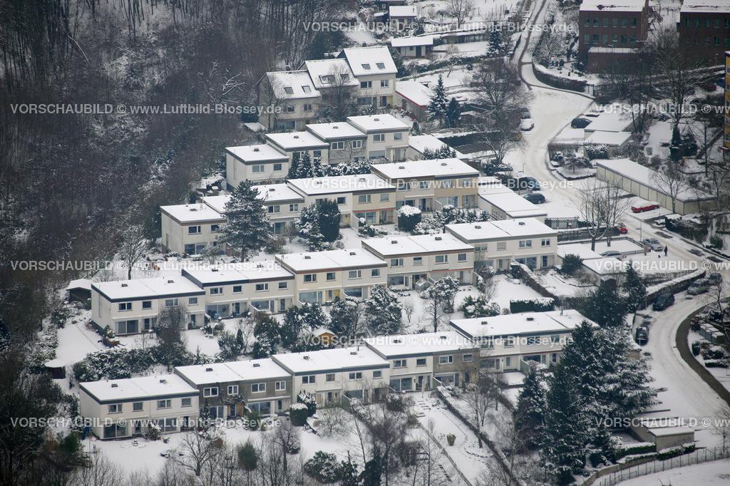 KT10011055 | Schnee,  Kettwig, Essen, Ruhrgebiet, Nordrhein-Westfalen, Deutschland, Europa, Foto: Luftbild Hans Blossey, Copyright: hans@blossey.eu, 06.01.2010, E 006° 56' 40.42