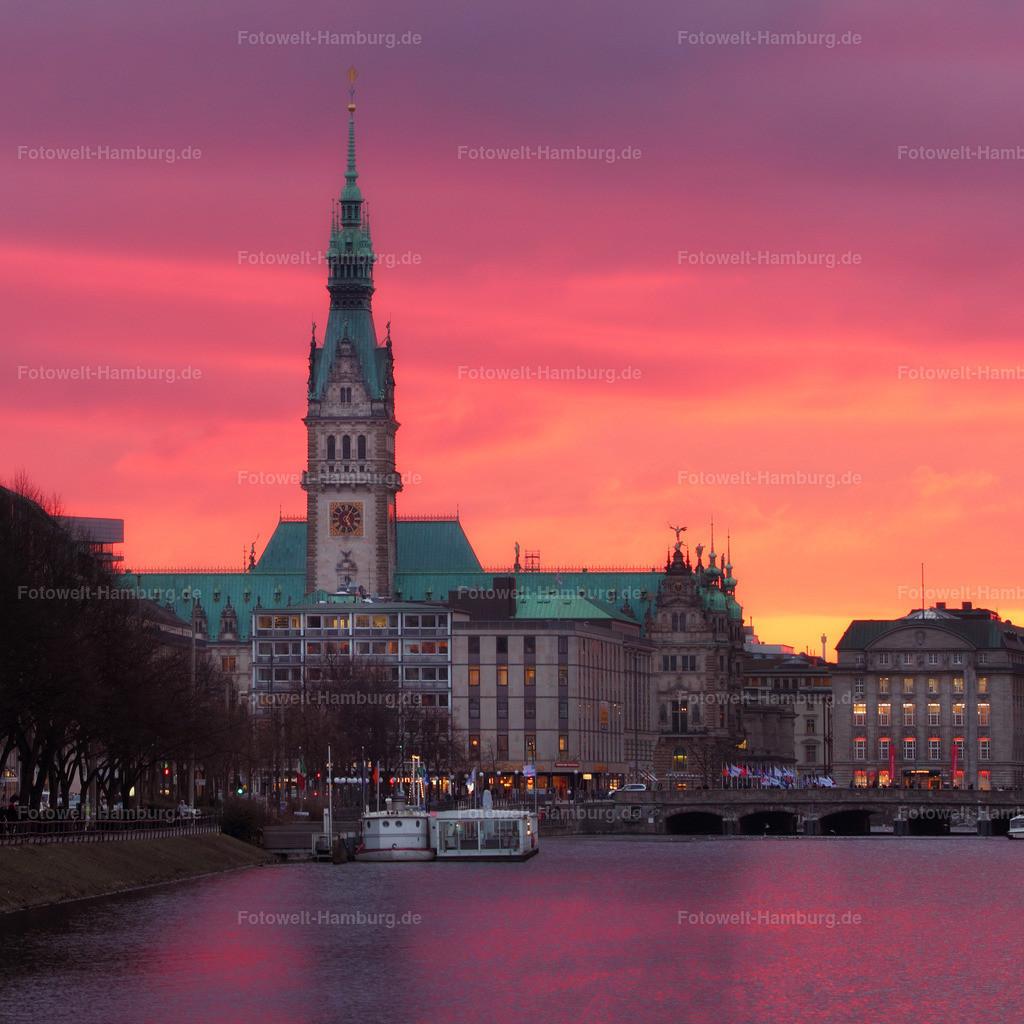11472072 - Rathaus bei Sonnenuntergang