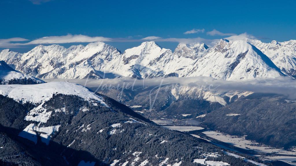 Gipfelblick | Blick über das Ranggerköpfl zur Hohen Munde und die Mieminger Kette