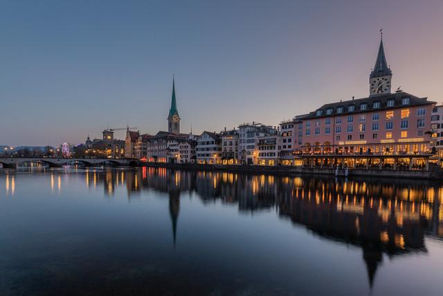 Zürich, Blick vom Limmatquai