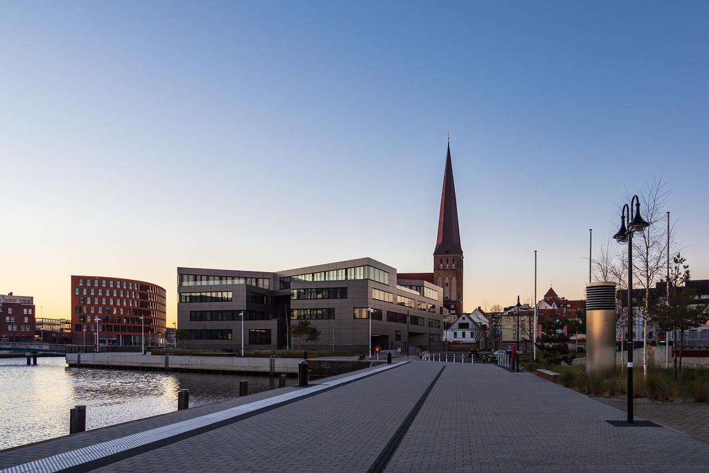 Blick auf die Petrikirche in Rostock   Blick auf die Petrikirche in Rostock.