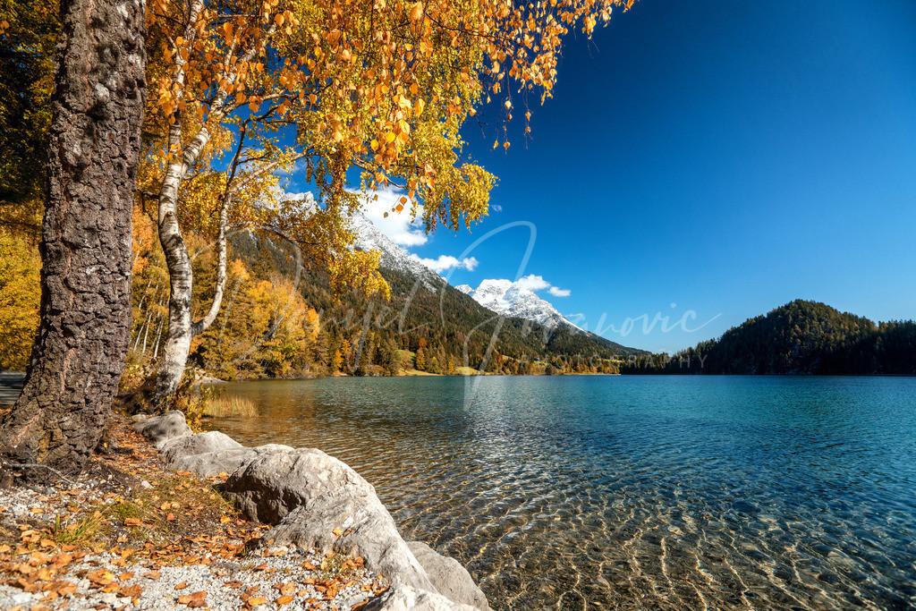 Hintersteiner See   Herbst am wunderschönen Hintersteiner See in Scheffau