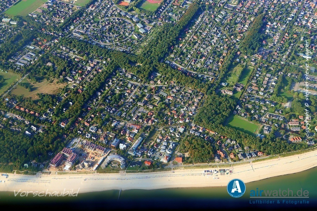 Luftbild Nordsee, Föhr, Wyk auf Föhr, Suedstrand, Promenadenweg | Nordsee, Föhr, Wyk auf Föhr, Suedstrand, Promenadenweg