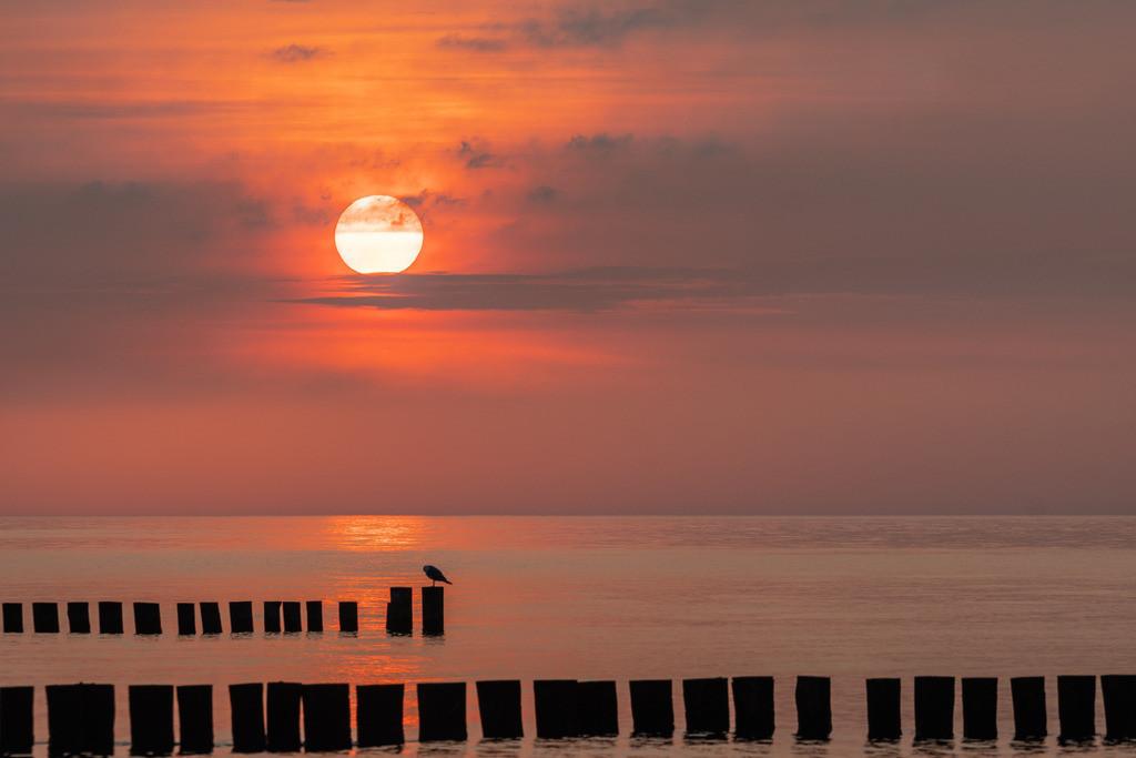 Sunset am Meer