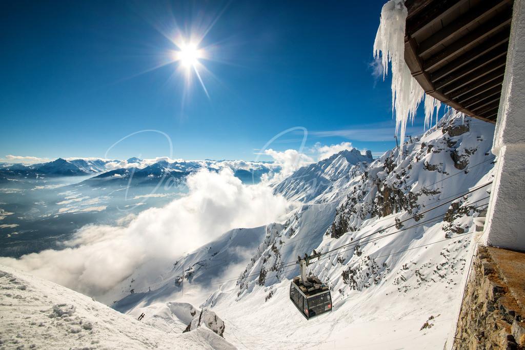 Nordkette | Blick vom Hafelekar auf die Seegrube und Innsbruck