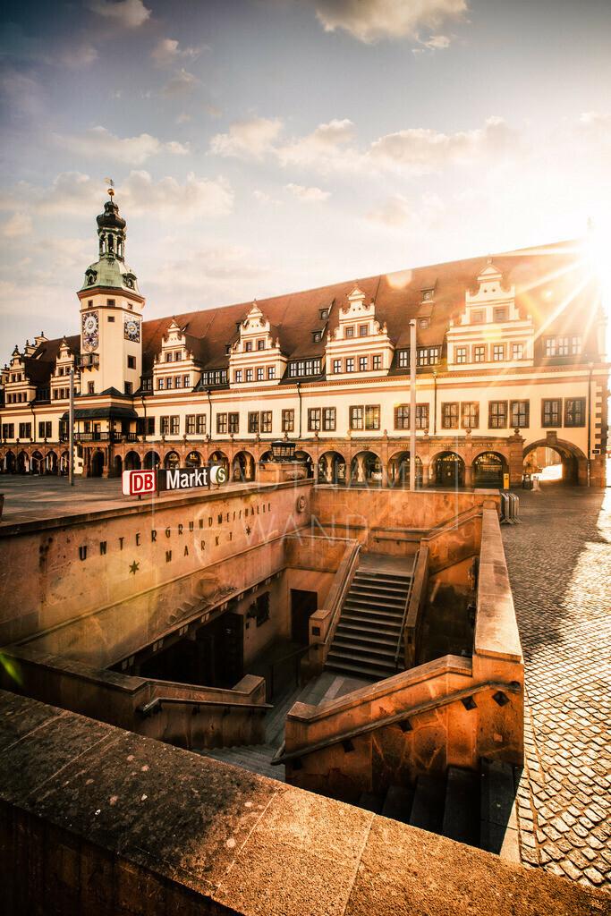 Leipzig Altes Rathaus Sonnenlicht