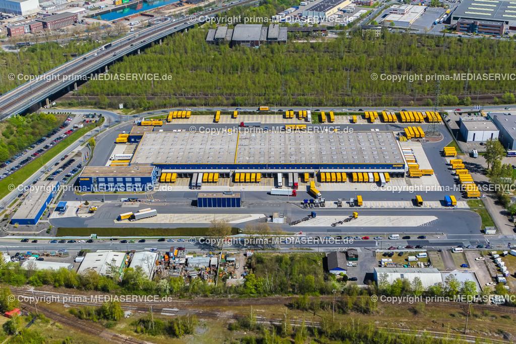 IMGL1957 | Luftbild DACHSER GmbH & Co. KG Frachtspeditionsdienst 21.04.2015 Niederlassung in Dortmund (Nordrhein-Westfalen, Deutschland).  Foto: Michael Printz / PHOTOZEPPELIN.COM
