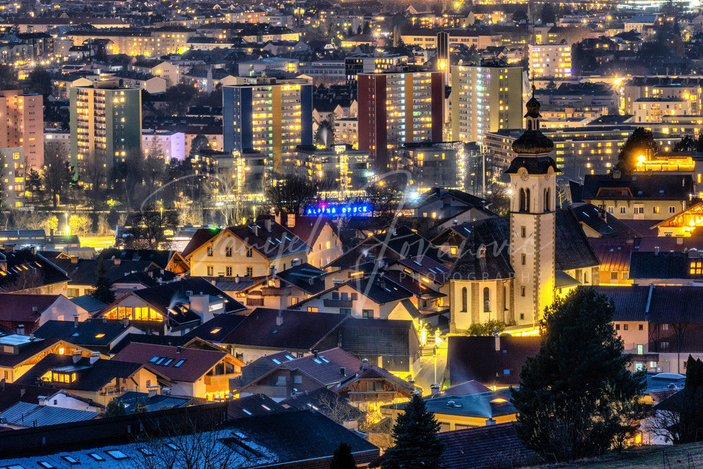 Innsbruck   Blick über Arzl auf Innsbruck