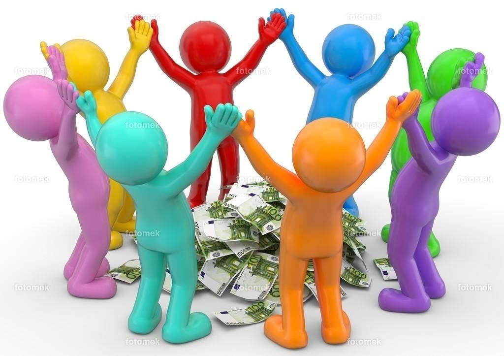 bunte 3d Männchen Crowdfunding
