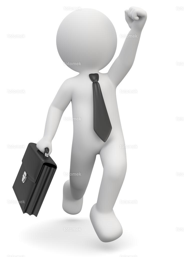 Businessman Freude Erfolg