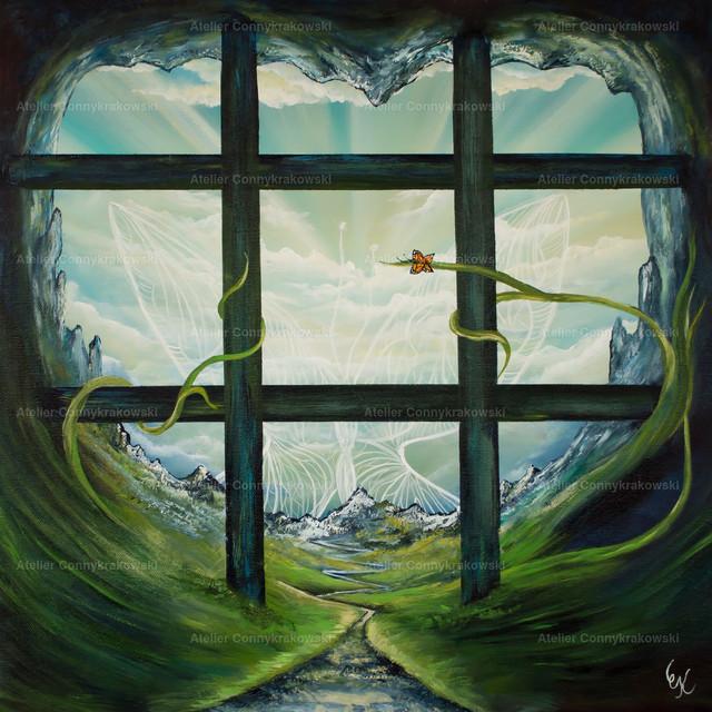 Lebensweg C   Phantastischer Realismus aus dem Atelier Conny Krakowski. Verkäuflich als Poster, Leinwanddruck und vieles mehr.