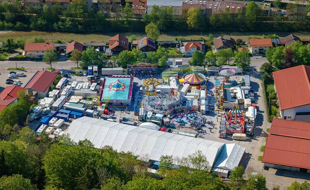 luftbild-traunstein-fruehligsfest-bruno-kapeller-29 | Luftaufnahme vom Traunsteiner Fruehlingsfest 2016