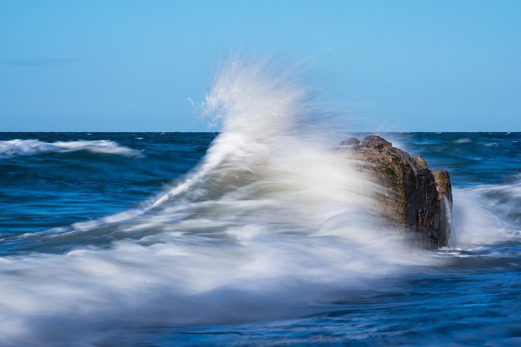 Buhnen an der Küste der Ostsee an einem stürmischen Tag | Buhnen an der Küste der Ostsee an einem stürmischen Tag.