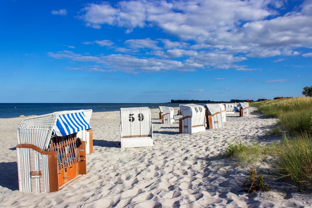 Strandkörbe an der Ostsee   Strandkörbe an der Ostsee in Kronsgaard