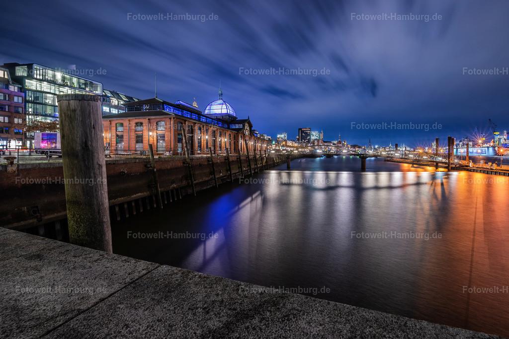 10210602 - Nachts an der Fischauktionshalle   Nächtliche Lichtstimmung an der Fischauktionshalle in Hamburg Altona.