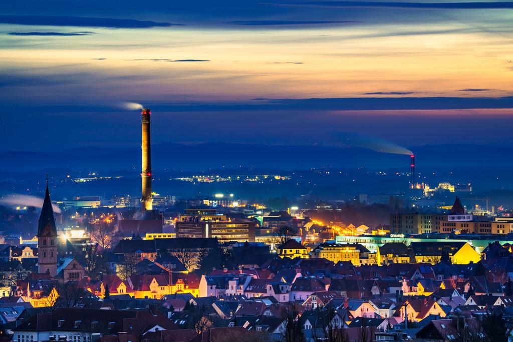 Dämmerung über Bielefeld | Dämmerung über Bielefeld im Februar 2021.